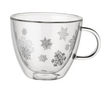 Decorated Christmas Punch Cup Snowflake 95mm