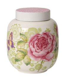 Villeroy & Boch Rose cottage tea caddy with cover