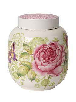 Rose cottage tea caddy with cover