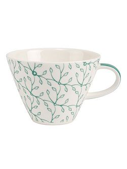 Caffe club floral peppermint coffee cup