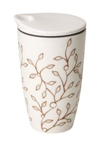 Caffè club floral caramel coffee to go mug 0,35l