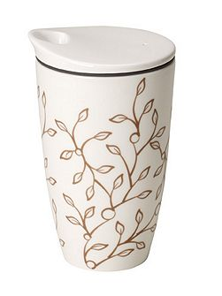 Caffè club floral caramel coffee to go mug
