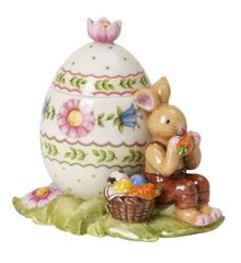 Villeroy & Boch Bunny family egg box bunny snacking ornament