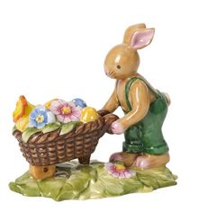 Villeroy & Boch Bunny family bunny with wheelbarrow ornament