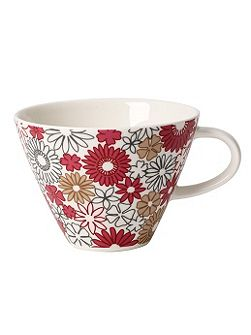 Caf.club fiori white coffee cup 0.39l