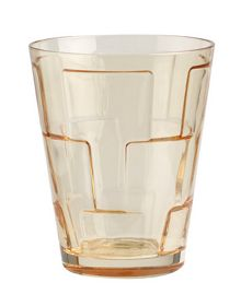 Villeroy & Boch Dressed up water glass square amber