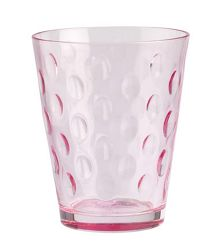 Dressed up water glass dots rose