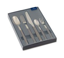 S+ taupe cutlery set 5pcs