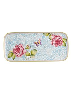 Rose cottage sandwich plate 35x16cm