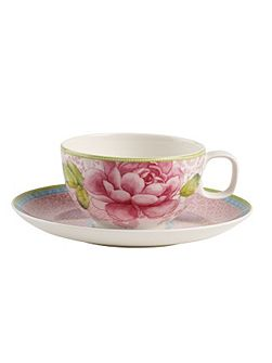 Rose cottage pink tea cup & saucer 2