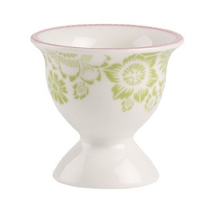 Villeroy & Boch Rose cottage egg cup with egg spoon