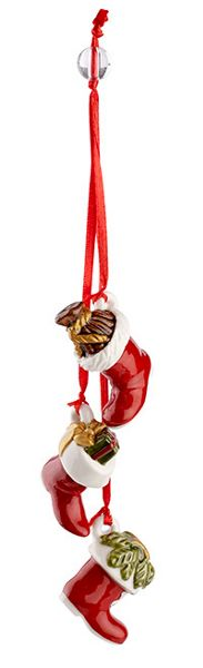 Villeroy & Boch Trio of boots hanging ornament
