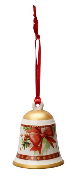 Villeroy & Boch Red christmas bell hanging ornament