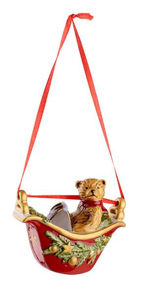 Villeroy & Boch Gondola with teddy hanging ornament