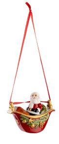 Villeroy & Boch Gondola with santa hanging ornament