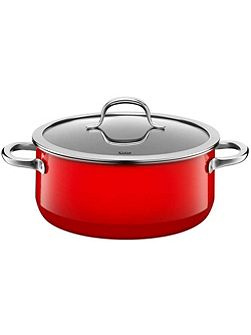 Passion Red Low casserole w.l. 24cm