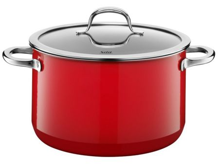 Silit Passion Red High casserole with lid 24cm
