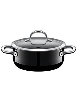 Passion Black Low casserole w.l. 20cm