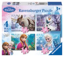 Disney Frozen 4 In Box Jigsaw Puzzles