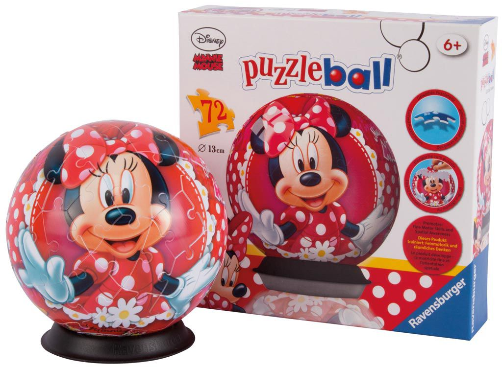 72pc Minnie Mouse Puzzleball 12139