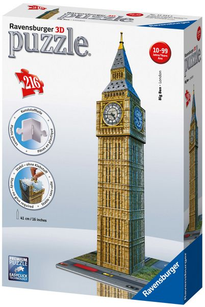Ravensburger Big Ben 3D Puzzle - 216 Pieces