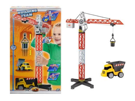 Dickie Building Team Crane Playset