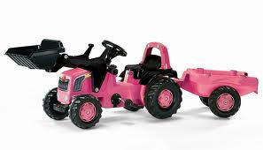 Rolly Pink Tractor With Loader
