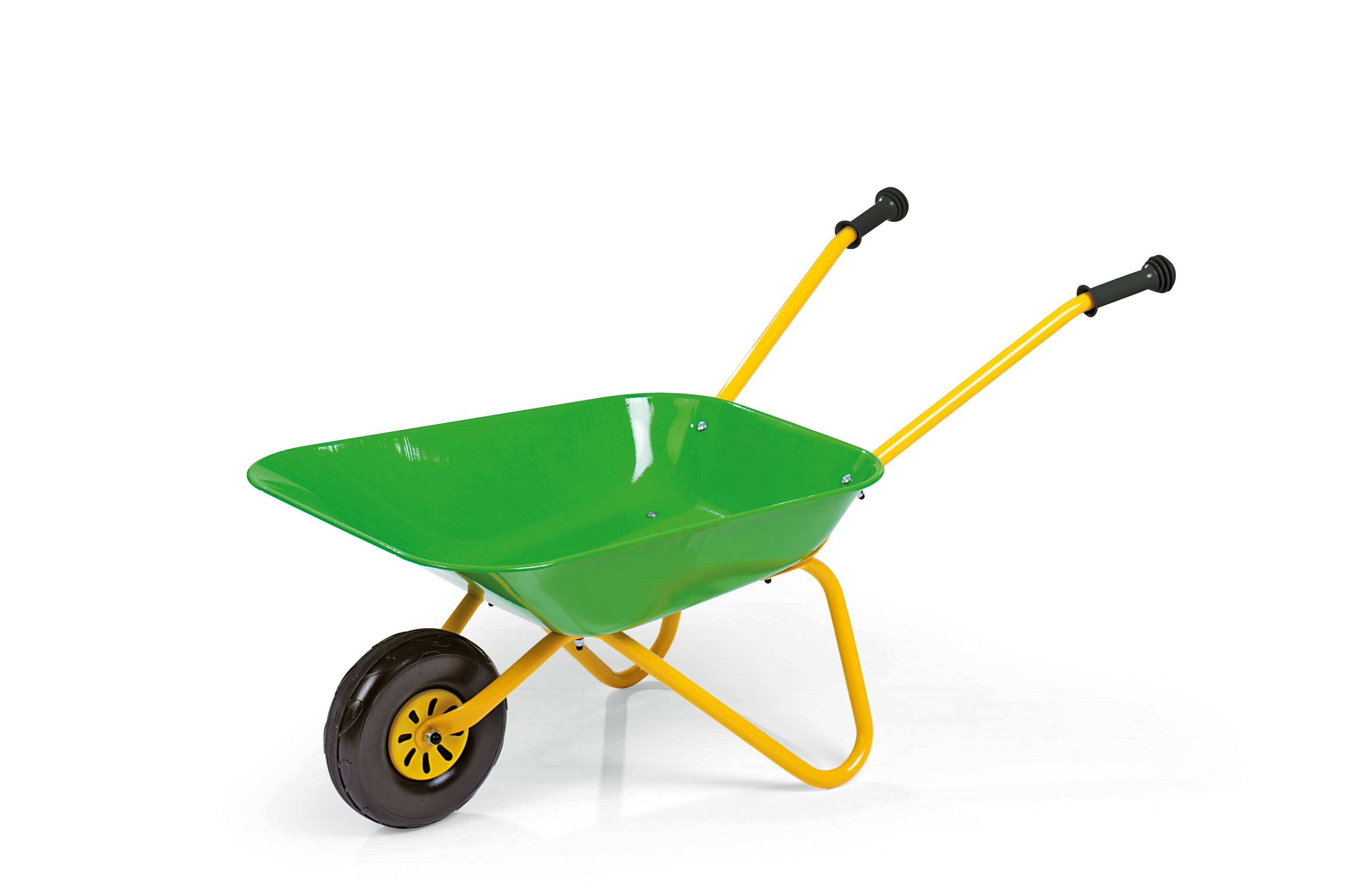 Green Metal Wheelbarrow