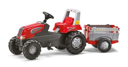 Rolly Rolly Junior RT Tractor And Farm Trailer - Red