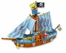 Spongebob Pirate Boat & 3 Figures