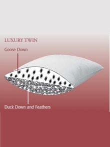 Luxury Twin standard pillow