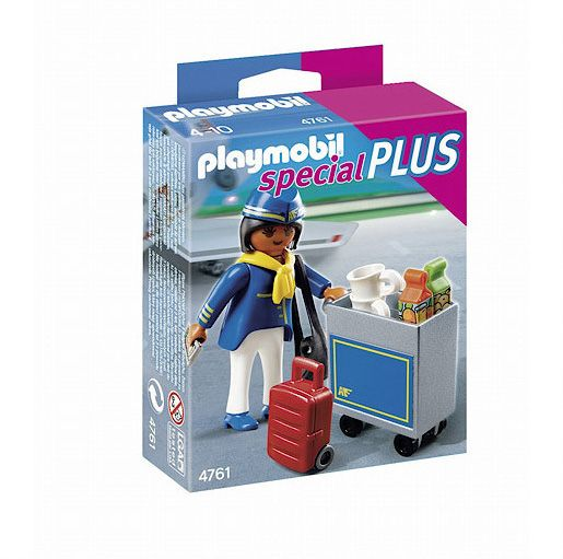 Playmobil Flight Attendant with drinks trolley 47