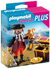 Playmobil Pirate Figure with Treasure Chest