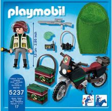 Playmobil Explorer with motorcycle