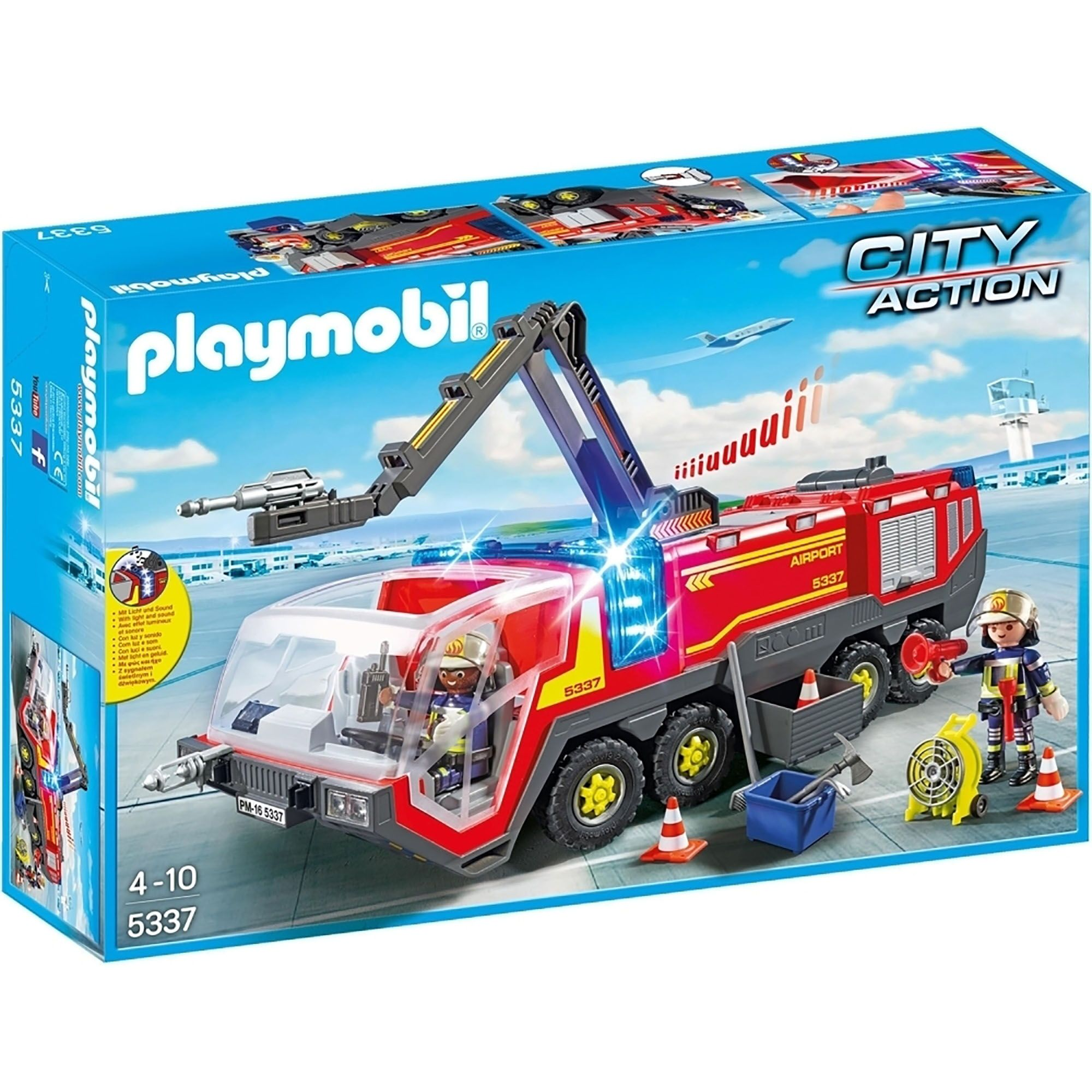 Image of Playmobil Airport Fire Engine With Lights & Sound