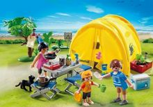 Playmobil Family with Camping Tent
