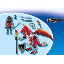 Playmobil Fire dragon with warrior 5463