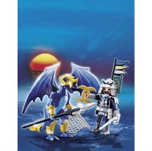 Ice dragon with warrior 5464