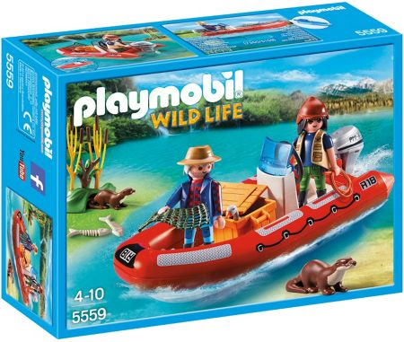 Playmobil Wildlife Inflatable Boat with Explorers