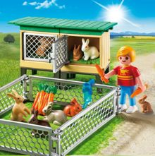 Playmobil Country Rabbit Pen with Hutch 6140