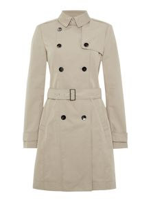 Cascadina Double Breasted Belted Trench