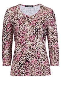 3/4 sleeve animal print T-shirt
