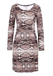 Snake print fitted dress
