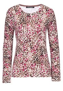 Animal print fine knit jumper