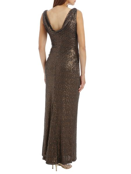 Vera Mont Vera Mont long sequin dress with fishtail