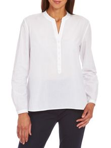 Cotton blouse with pleated back