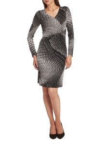 Abstract print Perfect Body dress