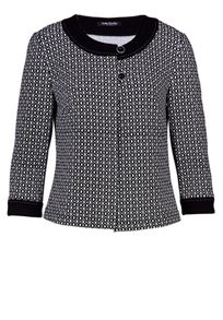 Diamond print jacket with two buttons