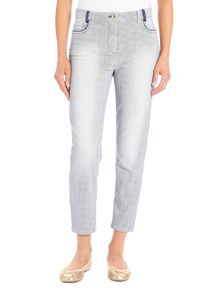 Pin striped Perfect Body 5-pocket jeans