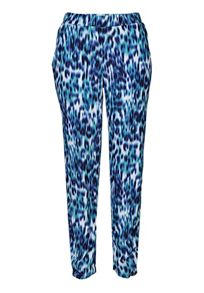 Animal print pull-on trousers